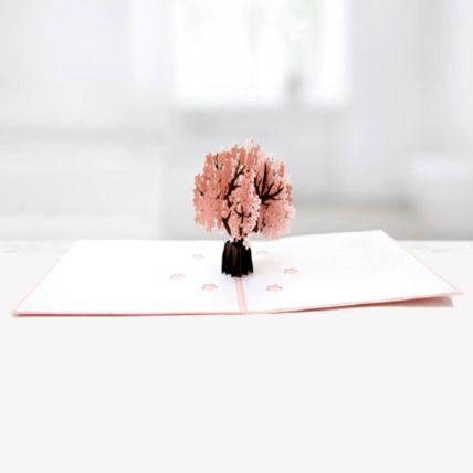 Cherry Blossom Tree 3D Card: