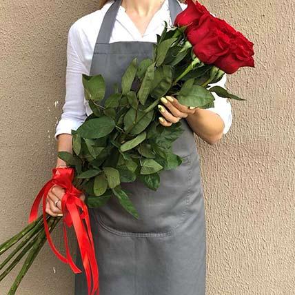 5 Lovely Long Stemmed Roses: Bouquet of Roses
