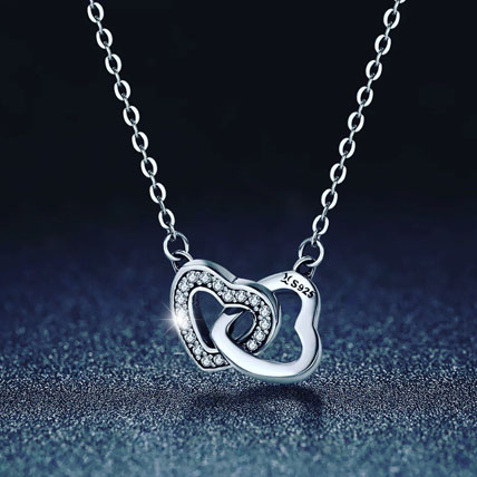 Connected Heart Necklace: Gifts for Womens Day