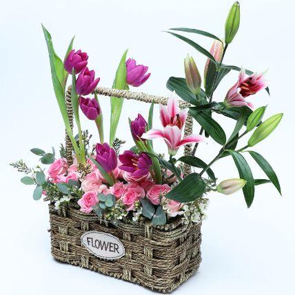 Floral Basket of Love N Care: Basket Arrangements