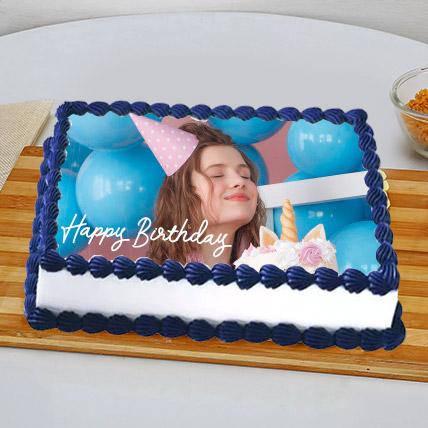 Birthday Photo Cake For BFF: Black Forest Cake