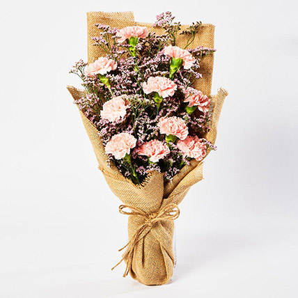 Lovely Pink Carnations Bouquet: Carnation Flower