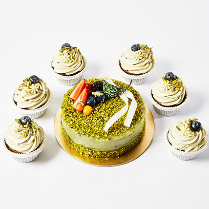 Pistachio Cake and Cup Cakes: New Arrival Cakes