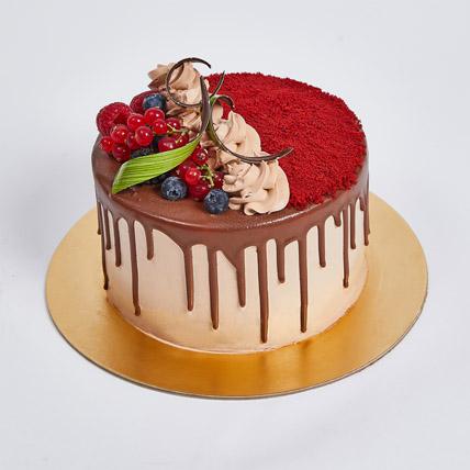 Chocolaty Red Velvet Cake: Eggless Birthday Cakes