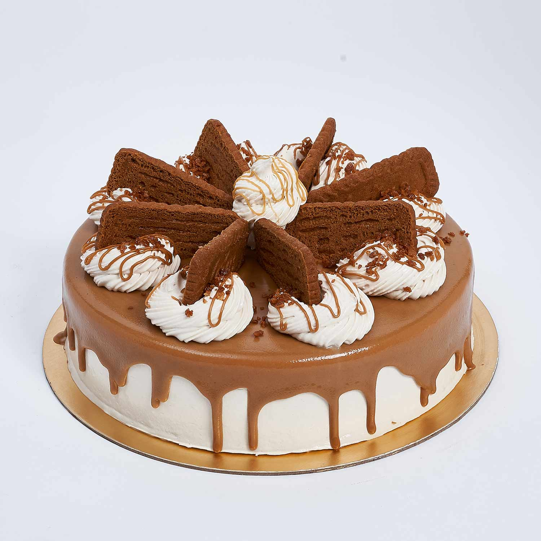 Heavenly Lotus Biscoff Cake: Half Kg Cakes