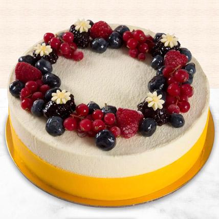 Yummy Vanilla Berry Delight Cake: Eggless Birthday Cakes