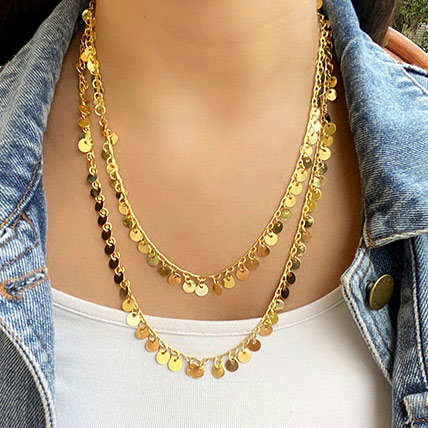 Gold Plated Chain Necklace: Jewellery