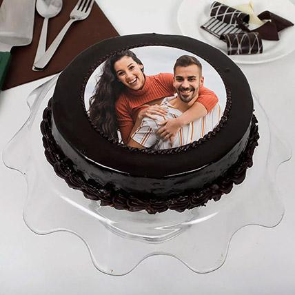 Chocolate Truffle Anniversary Photo Cake 500gm: Photo Cakes
