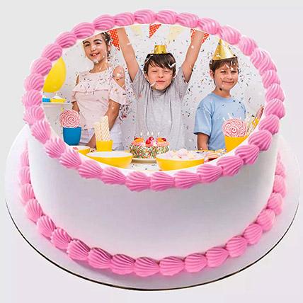 Delicious Birthday Photo Cake 500gm: Birthday Photo Cakes