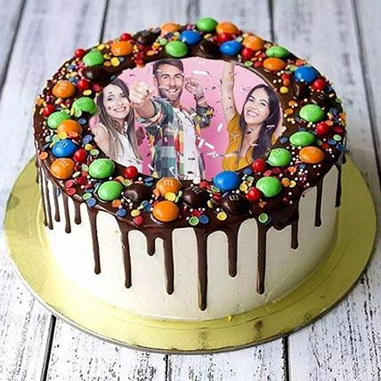 MNM Chocolate Birthday Photo Cake: Customized Cakes in Dubai