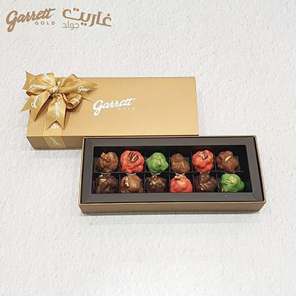 12 Bonbons Garrett Gold Gift Box Nuts Selections: Garrett Gold