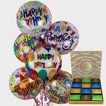 Birthday Balloons and Godiva Chocolates: Birthday Chocolates