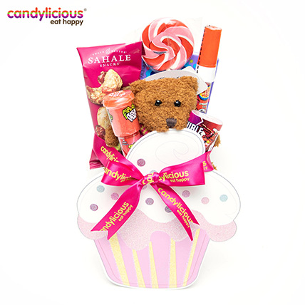 Candylicious Cupcake Wooden Pink Gift Pack: Candylicious