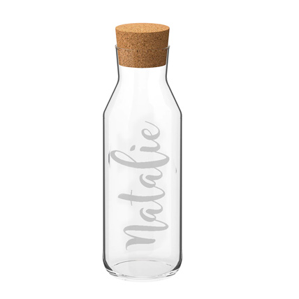 Engraved Name Glass Bottle: Kitchen Accessories