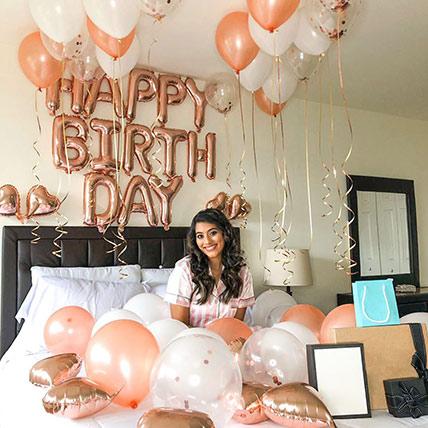 Birthday Special Mixed Balloons Decor: Balloon Decorations