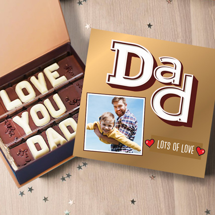 Love You Dad Personalised Chocolate Box: Gifts for Dad
