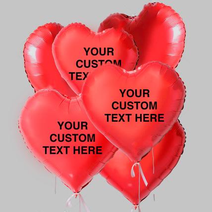 Cute Heart Shaped Customized Text Balloons: Balloons