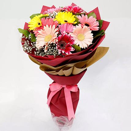 10 Gerbera Flowers Bouquet: Gerberas Bouquet