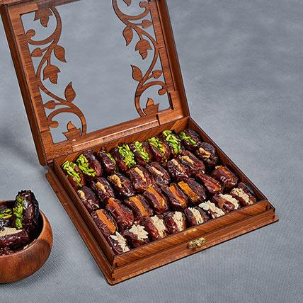 Stuffed Dates In Wooden Box: Dates