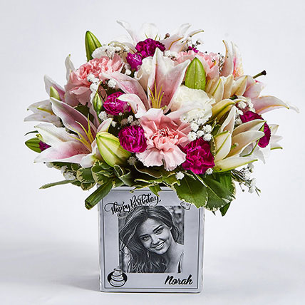 Personalised Vase Birthday Flowers: Gifts for Friend
