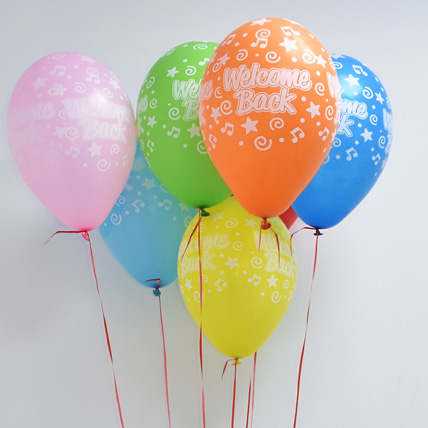 10 Multicolor Welcome Back Balloons: Welcome Back Gifts