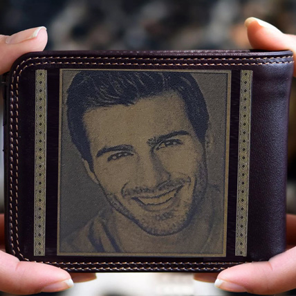 Personalised Mens Wallet With Photo: Birthday Gifts for Him