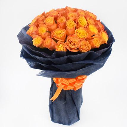 35 Orange Roses Bouquet: Roses Bouquet