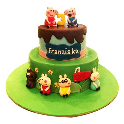 Peppa Pig Again Cake: Peppa Pig Cake