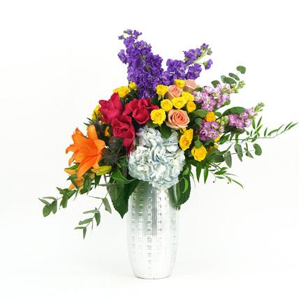 Mix Flowers in Premium Vase: New Arrival Flowers