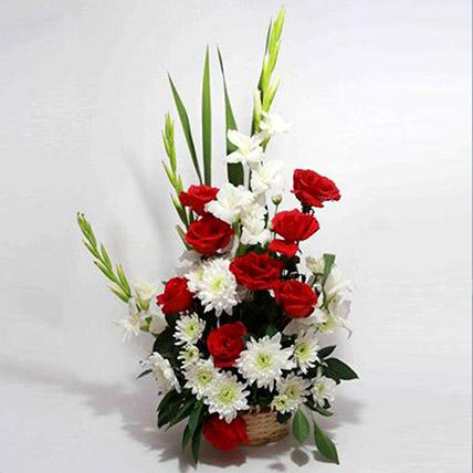 Love Sensation Floral Basket: Flower Delivery Pakistan
