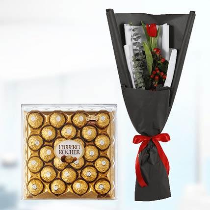 Tulip & Ferrero Rocher: Send Flowers to Qatar