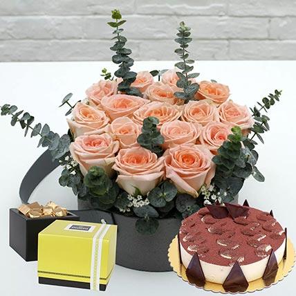Delightful Tiramisu Cake & Patchi Chocolates: