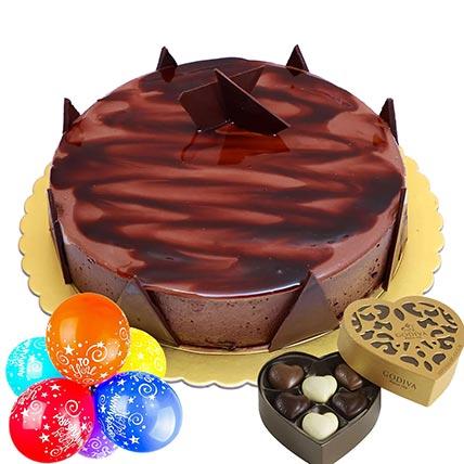 Anniversary Special Ganache Cake Combo: