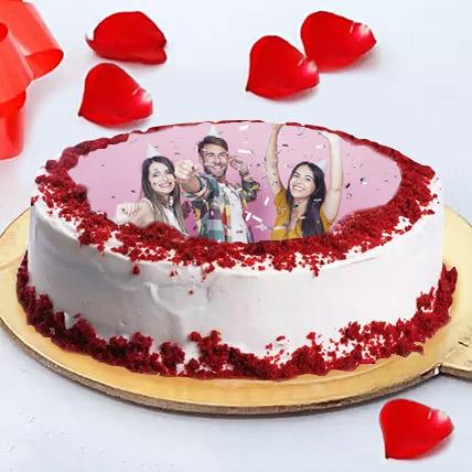 Birthday Photo Cake For Friends: