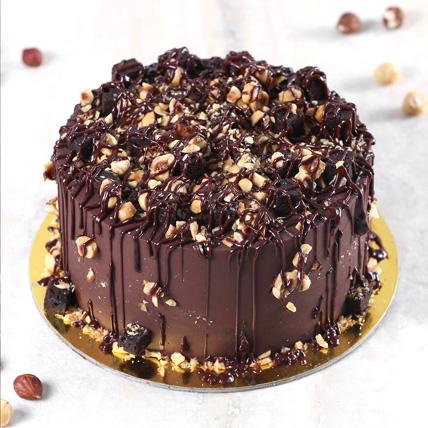 Crunchy Chocolate Hazelnut Cake Half Kg: Send Cake to Riyadh