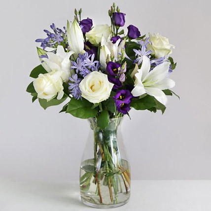 Beautiful Blue Floral Arrangement: Flowers to UK