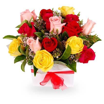 Bunch of Roses & Viburnum