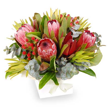 Fresh Colourful Flowers In Box