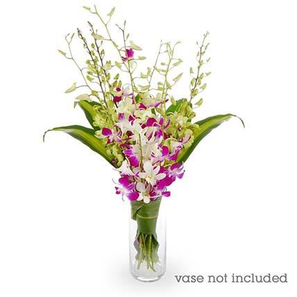 Orchids & Cordyline Flower Arrangement