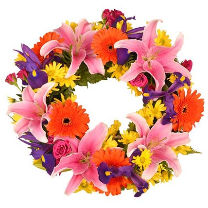 Vibrant Flowers Wreath
