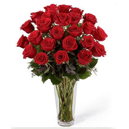 24 Red Roses Arrangement BH