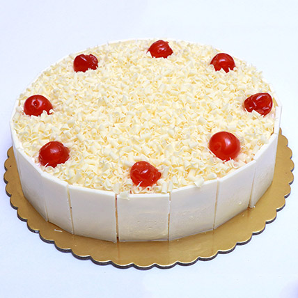 Mouthwatering Whiteforest Cake 12 Portion