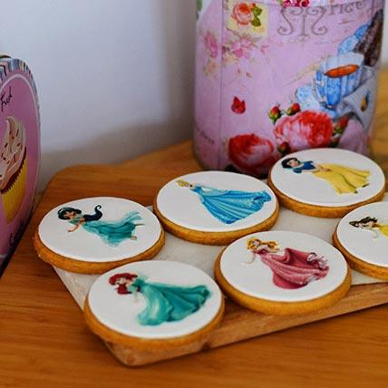 Princess Photoprint Cookies 6 Pcs