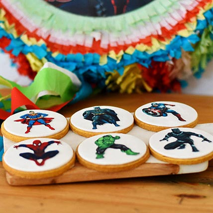 Super Hero Photoprint Cookies 6 Pcs
