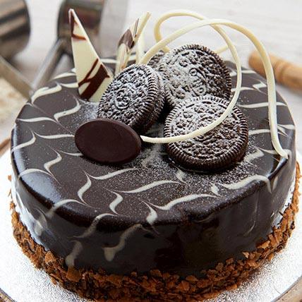 Vanilla Nutella Oreo Cake Half Kg