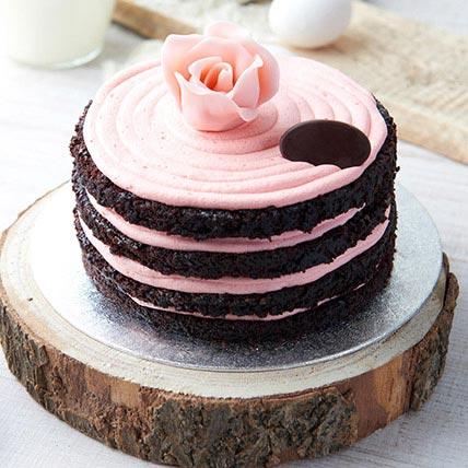 Dark Chocolate Rose Cake 1.5 Kg