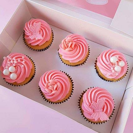 Delish Vanilla Cupcakes 6 Pcs