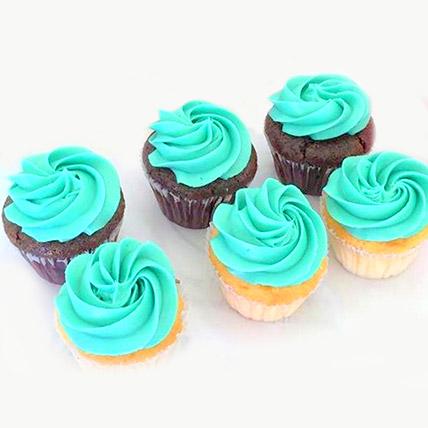 Divine Mix Flavour Cupcakes 6 Pcs