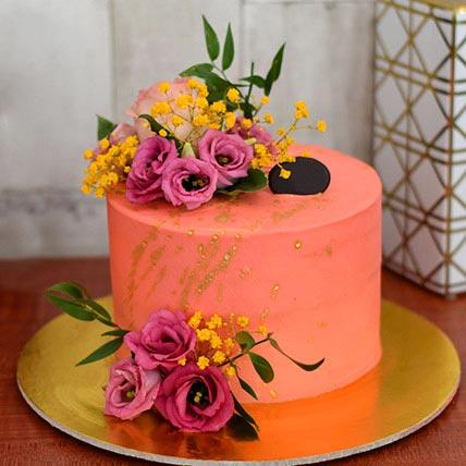 Flowerly Chocolate Cake Half Kg