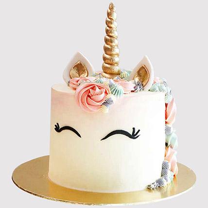 Pretty Unicorn Themed Cake